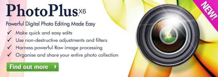 Photo editing just got easier with PhotoPlus X6